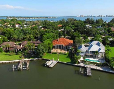 Siesta Key Watefront Home for sale on Bay Island