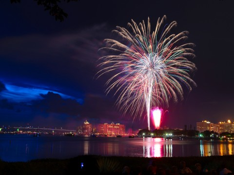 July 4th Fireworks over Sarasota Bay