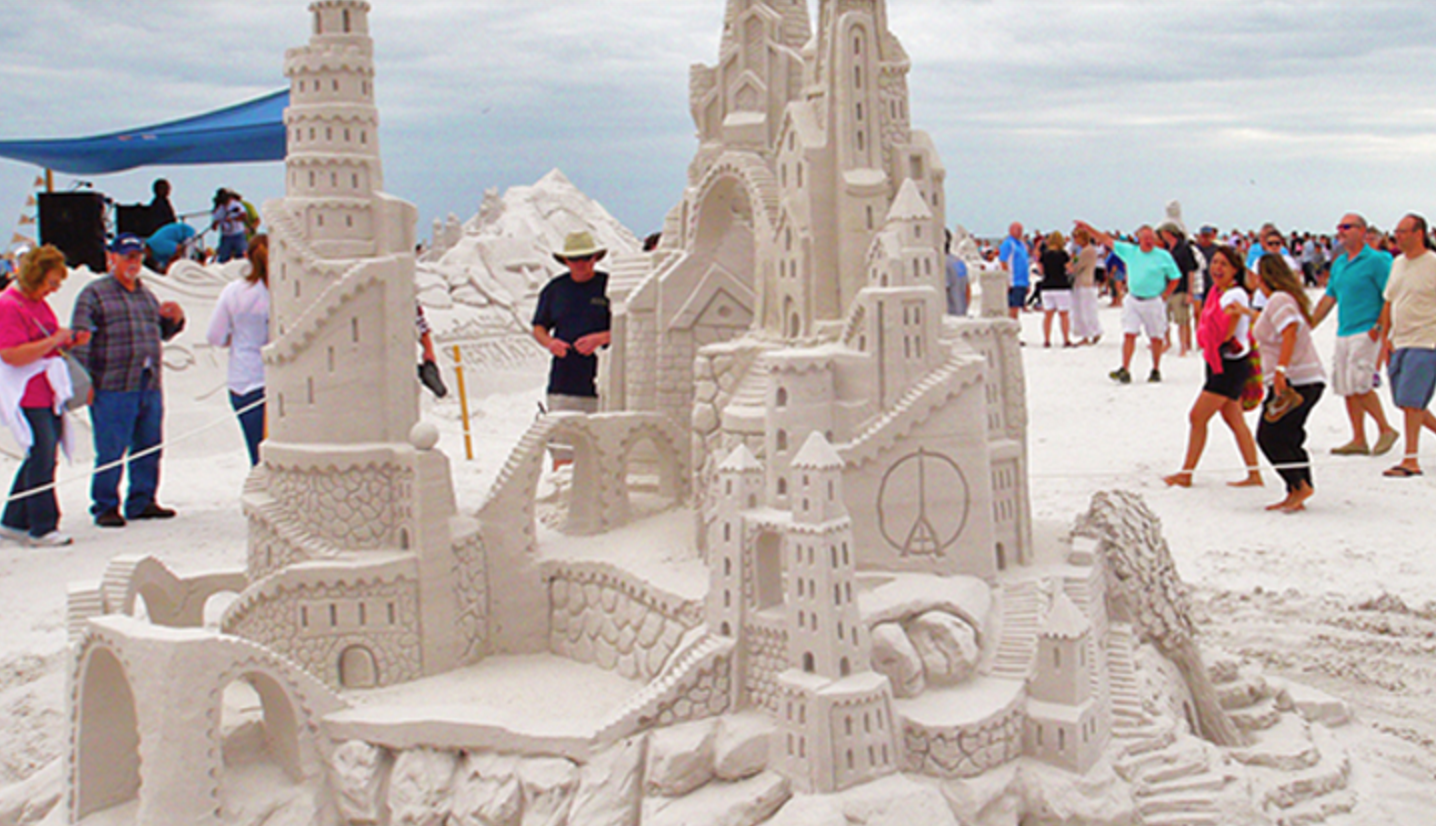 The Siesta Key Crystal Classic Sand Sculpting Contest and Festival